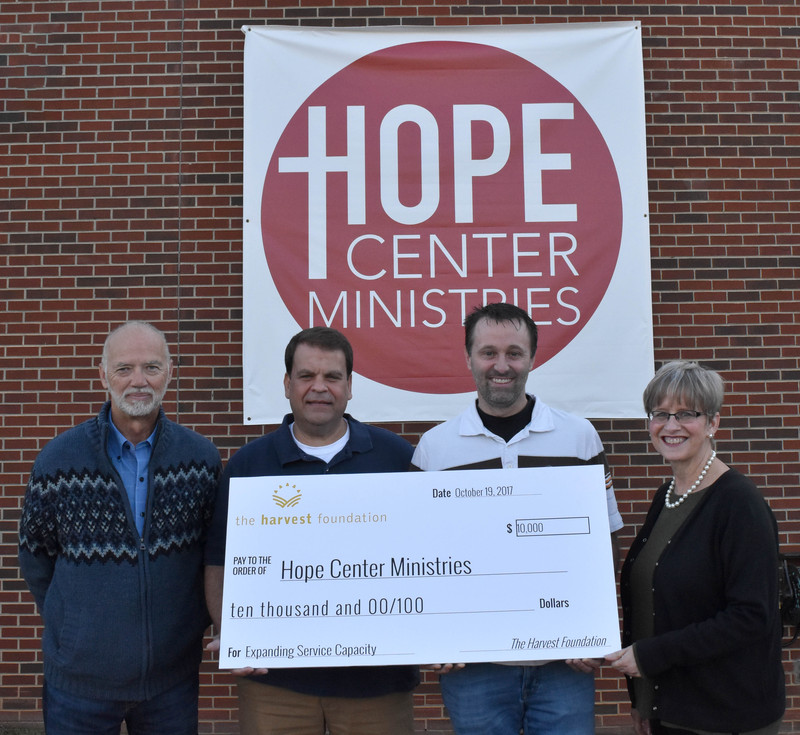 Harvest grants $10,000 to Hope Center Ministries
